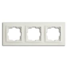 Рамка тройная серии Despina (Mono Electric) Белая