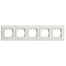 Рамка пятерная серии Despina (Mono Electric) Белая