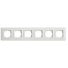 Рамка шестерная серии Despina (Mono Electric) Белая