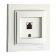 Розетка TF Евро (623K) серии Despina (Mono Electric) Белая