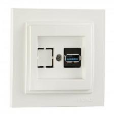 Розетка USB серии Despina (Mono Electric) Белая