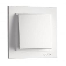 Выключатель одноклавишный 10А серии Despina (Mono Electric) Белый