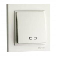 Выключатель одноклавишный с подсветкой 10А серии Despina (Mono Electric) Белый
