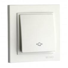 Кнопка звонка 10А серии Despina (Mono Electric) Белый