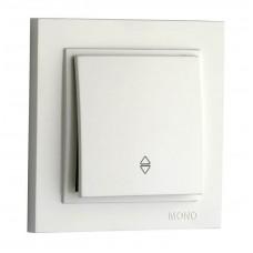 Выключатель одноклавишный проходной 10А серии Despina (Mono Electric) Белый