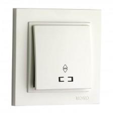 Выключатель одноклавишный проходной с подсветкой 10А серии Despina (Mono Electric) Белый