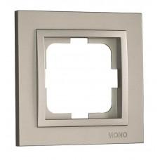 Рамка одноместная серии Despina (Mono Electric). Цвет Серебро