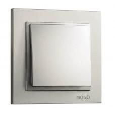 Выключатель одноклавишный серии Despina (Mono Electric). Цвет Серебро