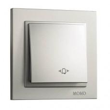 Кнопка звонка серии Despina (Mono Electric). Цвет Серебро