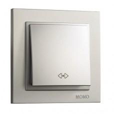 Переключатель проходной промежуточный серии Despina (Mono Electric). Цвет Серебро