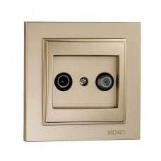 Розетка TV-Sat конечная (1 dB) серии Despina (Mono Electric). Цвет Титан