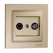 Розетка TV-Sat проходная с (5 dB) серии Despina (Mono Electric). Цвет Титан