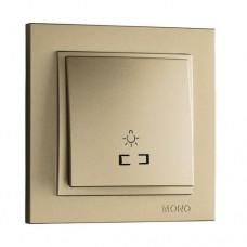 Кнопка для света с подсветкой серии Despina (Mono Electric). Цвет Титан