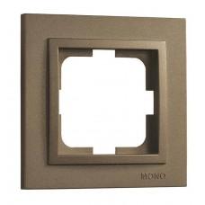 Рамка одноместная серии Despina (Mono Electric). Цвет Бронза