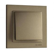 Выключатель одноклавишный серии Despina (Mono Electric). Цвет Бронза