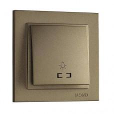 Кнопка для света с подсветкой серии Despina (Mono Electric). Цвет Бронза