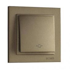 Кнопка звонка серии Despina (Mono Electric). Цвет Бронза