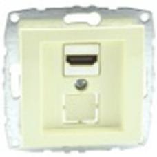 Механизм HDMI-розетки серии Despina (Mono Electric) Крем с панелью