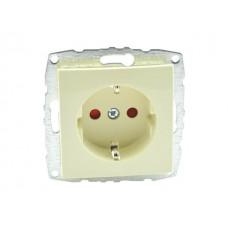 Механизм розетки с заземлением и защитой от детей 16А серии Despina (Mono Electric) Крем с панелью