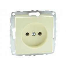 Механизм розетки без заземления 10А серии Despina (Mono Electric) Крем с панелью
