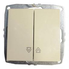 Механизм выключателя управления жалюзи серии Despina (Mono Electric) Крем с клавишей
