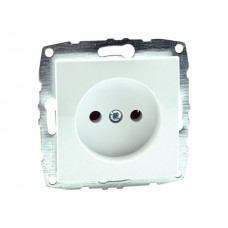Механизм розетки без заземления 10А серии Despina (Mono Electric) Белый с панелью