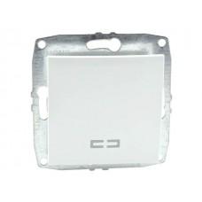 Механизм одноклавишного выключателя с подсветкой 10А серии Despina (Mono Electric) Белый с клавишей