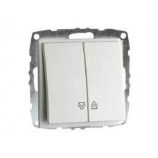 Механизм выключателя управления жалюзи серии Despina (Mono Electric) Белый с клавишей