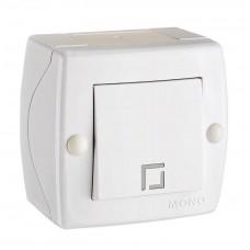 Выключатель одноклавишный серии Octans (Mono Electric). Цвет Белый