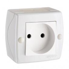 Розетка без заземления серии Octans (Mono Electric). Цвет Белый