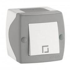 Выключатель одноклавишный серии Octans (Mono Electric). Цвет Серый