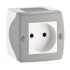 Розетка без заземления серии Octans (Mono Electric). Цвет Серый