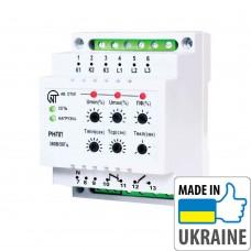 Трехфазное реле напряжения и контроля фаз Новатек-Электро РНПП-301
