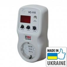 """Однофазное реле напряжения типа """"вольт-контроль"""" Новатек-Электро VC-115"""