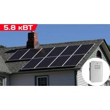Сетевая солнечная электростанция 5.8 кВт