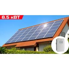 Сетевая трехфазная солнечная электростанция мощностью 8,5кВт