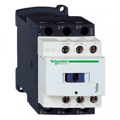 Контактор для управления электродвигателями Schneider Electric Tesys D, 38А, 18,5 кВт, 3 полюса