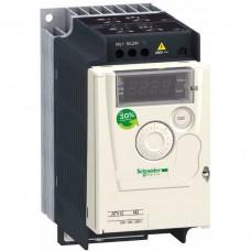 Преобразователь частоты для 1-фазных асинхронных электродвигателей 0,57 кВт Schneider Electric Altivar 12 (ATV12H075M2)