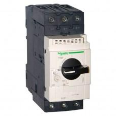 Автоматический выключатель для защиты электродвигателей 22 кВт Schneider Electric Tesys GV3 GV3P65