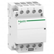 Модульный контактор Schneider Electric Acti 9 iCT, 63 А, 3NO, 220-240В, ~50 Гц