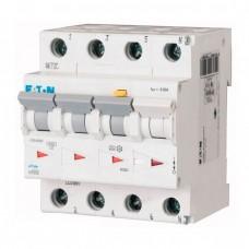 Дифференциальный автомат Eaton mRB6-10/3N/C/01-A, 10А, 100мА, 3 полюса + нейтраль, кривая C