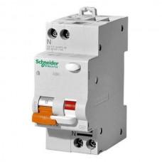Дифференциальный автомат Schneider Electric АД63 Домовой, 25А, 300мА, 1 полюс + нейтраль