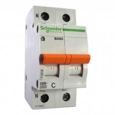 Автоматический выключатель Schneider Electric ВА63 Домовой, 63А, 1 полюс + нейтраль