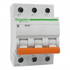 Автоматический выключатель 10А, 3 полюса Schneider Electric ВА63 Домовой, кривая С 11222