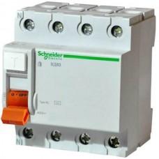 Устройство защитного отключения (УЗО) Schneider Electric ВД63 Домовой, 25А, 30мА, 4 полюса (11460)