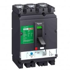 Автоматический выключатель с магнитотерм. расцепителем TM100D Schneider Electric EasyPact CVS100B, 3 полюса, 100А, 25 кА
