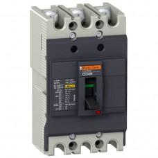 Автоматический выключатель с термомагнит. расцепителем Schneider Electric EasyPact EZC100N, 3 полюса, 100А, 15 кА
