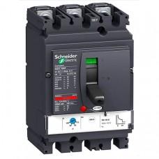 Автоматический выключатель с магнитотерм. расцепителем Schneider Electric Compact NSX100F TM100D, 3 полюса, 100А, 36 кА