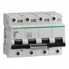 Автоматический выключатель Schneider Electric C120N, 125А, кривая C, 4 полюса