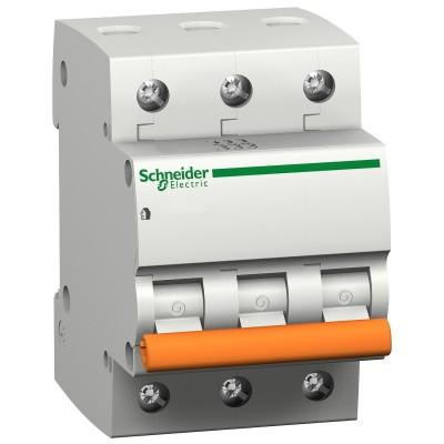 Автоматический выключатель 32А 3-полюсный, Schneider Electric ВА63 Домовой, 11226